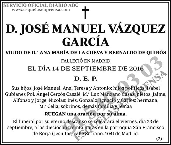 José Manuel Vázquez García